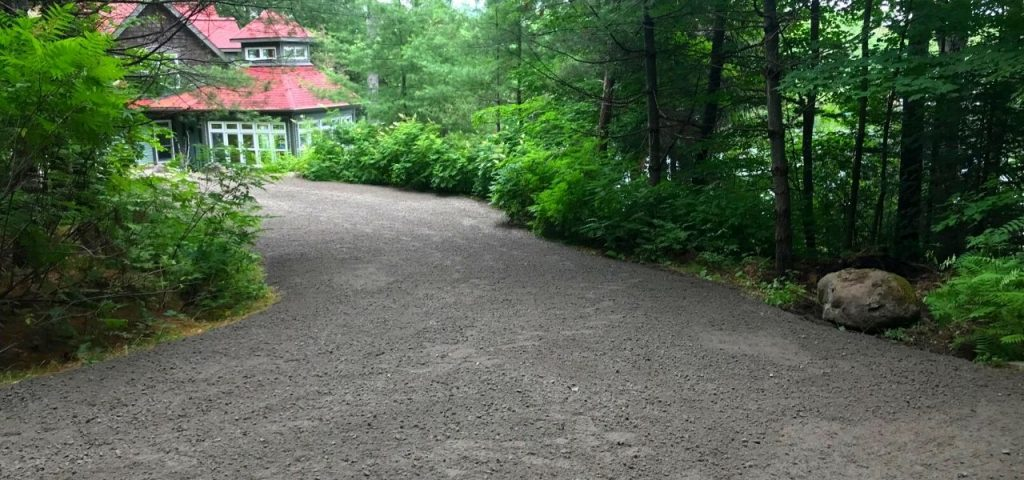 road building muskoka gavel driveway