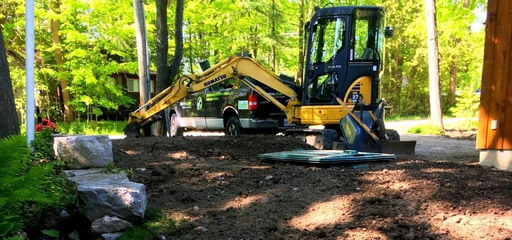 Muskoka Septic Installation - Greenleaf Excavation